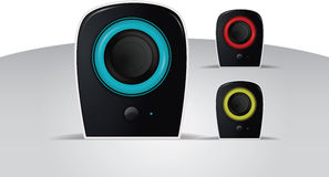 Vector realistic illustration of speakers Stock Images