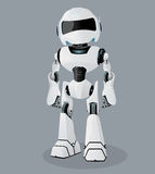 Vector realistic illustration of the white robot. Vector robot. Royalty Free Stock Photography
