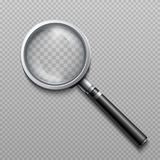 Vector realistic loupe, magnifying glass scientific tool isolated stock illustration