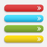 Vector  realistic Matted color Web  buttons  with Royalty Free Stock Images