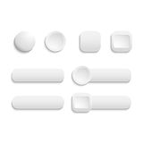 Vector  realistic Matted white color Web  buttons Royalty Free Stock Image