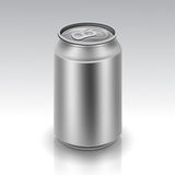 Vector Realistic Metal Can Stock Image