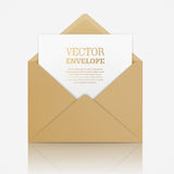 Vector realistic mockup of envelope. Royalty Free Stock Images