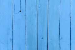 Vector realistic old wooden painted blue Royalty Free Stock Image