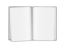 Vector realistic open blank book isolated on white background.  Stock Images