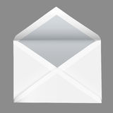 Vector realistic open white envelope isolated on grey background Stock Photo