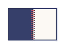 Vector realistic opened notebook with spiral. Stock Photos