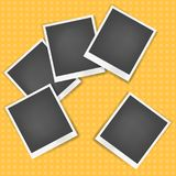 Vector realistic photo frame with white edges royalty free illustration