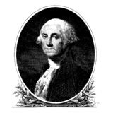 Vector portrait of the first president of the United States George Washington royalty free stock photos