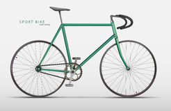Vector realistic racing bicycle road racing Royalty Free Stock Images