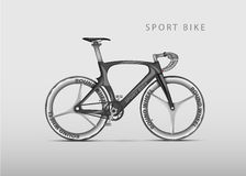 Vector realistic racing bicycle road racing Stock Images