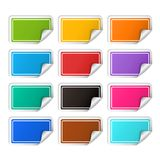 Vector realistic rectangular colorful stickers set Royalty Free Stock Image
