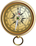 Vector realistic represented compass Royalty Free Stock Photography
