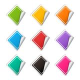 Vector realistic rhombus colorful Sticker set Stock Images