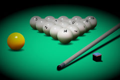 Vector realistic russian billiards. Stock Photography