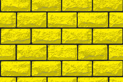 Vector realistic seamless texture of gold brick wall Royalty Free Stock Photo