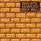 Vector realistic seamless texture of orange brick wall Royalty Free Stock Photos