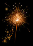Vector Realistic Sparkler Royalty Free Stock Photography