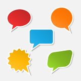 Vector realistic speech bubble sticker Stock Images