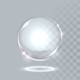 Vector realistic sphere crystal bubble drop Royalty Free Stock Photography