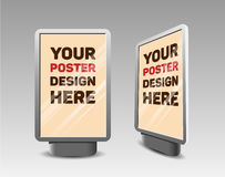 Vector realistic vertical billboard for your design royalty free illustration