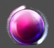 Free Vector Realistic Violet Glass Sphere Transparent Stock Image - 107977011