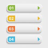 Vector  realistic Web buttons,infographic with Royalty Free Stock Image