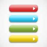 Vector  realistic  Web  buttons Stock Photo