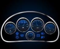 Vector realistisch autodashboard Stock Afbeeldingen