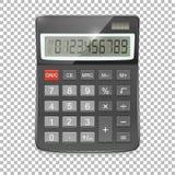 Vector realistisch die calculatorpictogram op transparante achtergrond, ontwerpmalplaatje in EPS10 wordt geïsoleerd Stock Afbeeldingen