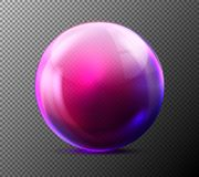 Vector realistisch violet transparant glasgebied Stock Afbeelding