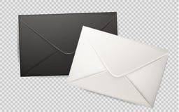 Vector realistische 3d envelop, postbrievendekking Stock Afbeelding