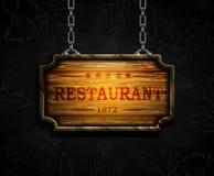 Vector realistische illustratie van houten uithangbord Stock Foto
