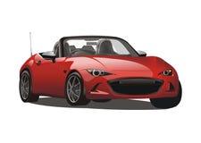 Vector realistische rode sportwagen Stock Afbeelding