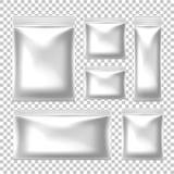 Vector realistische voedselsnack verpakking met ritssluiting royalty-vrije illustratie
