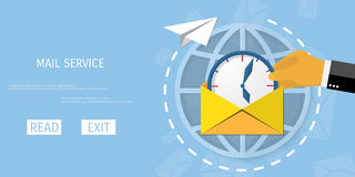 Vector receive mail web icon. Stock Image