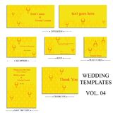 Vector reception cards set� Royalty Free Stock Photography