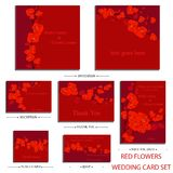 Vector reception cards set… Stock Photography