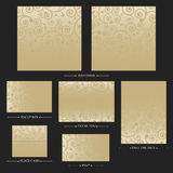 Vector reception cards set… Royalty Free Stock Photo