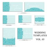 Vector reception cards set… Stock Photo