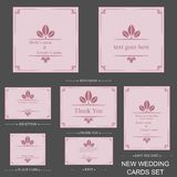 Vector reception cards set… Stock Photos