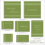 Vector reception cards set… Stock Image