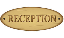 Vector reception sign Stock Image