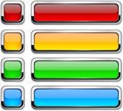 Vector rechteckige Tasten auf Weiß. Lizenzfreies Stockfoto