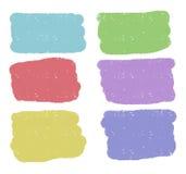 Vector rechthoekige kleurrijke vormen Stock Afbeeldingen