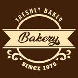 Vector recientemente cocido de la panadería desde 1975 Imagen de archivo libre de regalías