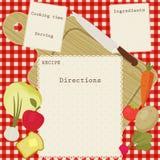 Vector recipe card Stock Photos