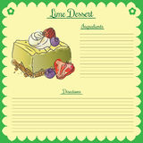 Vector recipe. Lime cupcake Stock Images