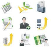 Vector recruiting icon set stock illustration