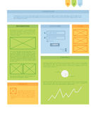 Vector rectangle background template. Infographic template with Stock Photos